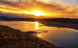 Sunrise at Lake Powell Royalty Free Stock Photography