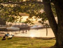 Sunrise at Lake Rotoiti, NZ Stock Images