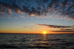 Sunrise on the lake. Sea Royalty Free Stock Photo