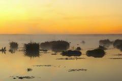 Sunrise at the lake Stock Photos