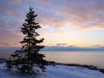 Sunrise on Lake Superior Stock Photos