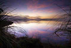 Sunrise, Lake Taupo, New Zealand Stock Photo