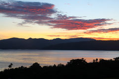 Sunrise at Lake toba Stock Photos
