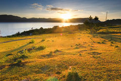 Sunrise at Lake toba Royalty Free Stock Images