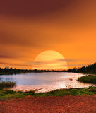 Sunrise Lake of the Woods Arizona Royalty Free Stock Photo