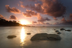 Sunrise at lalang beach belitung indonesia Stock Photography