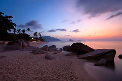 Sunrise at Lamai beach Royalty Free Stock Image