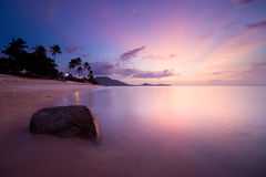 Sunrise at Lamai beach Stock Photography