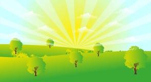 Sunrise Landscape Stock Images