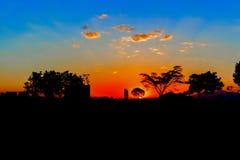 Sunrise landscape in Ethiopia. Picturesque sunrise landscape over Addis Ababa in Ethiopia Royalty Free Stock Photo