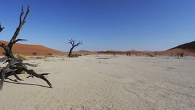 Sunrise landscape of hidden Dead Vlei stock video