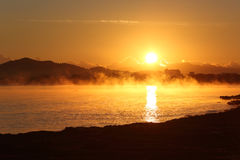 Sunrise landscape in Majorca Royalty Free Stock Photography