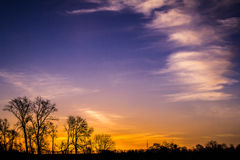 Sunrise Landscape. A morning landscape with beautiful clouds image Stock Photos