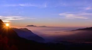 Sunrise landscape. Sunrise on the mountain landscape Stock Photo