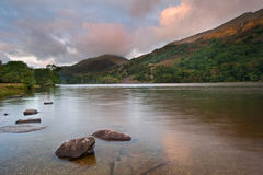 Sunrise landscape over Llyn Gwynant Royalty Free Stock Image