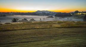 Sunrise landscape over morganton town in north carolina Royalty Free Stock Photo