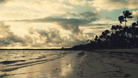 Sunrise landscape of paradise tropical island beach Punta Cana, Dominican Republic.  stock video