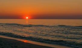 Sunrise landscape in Romania. Sunrise on the sea,Landscape in Romania Stock Photography