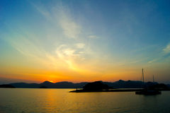 Sunrise in Langkawi at malaysia Royalty Free Stock Images