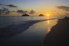 Sunrise at lanikai Stock Image