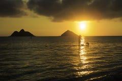 Sunrise at lanikai Stock Image