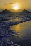 Sunrise in lanikai Royalty Free Stock Photo