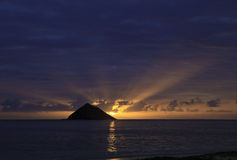 Sunrise at lanikai beach Stock Photography