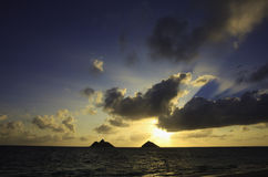 Sunrise at lanikai beach Royalty Free Stock Images