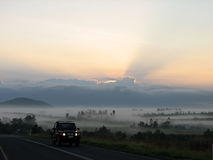 A sunrise lanscape view in Australia Stock Images