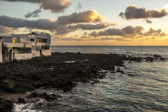 Sunrise in Lanzarote Stock Photography