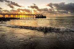Sunrise in Lanzarote Royalty Free Stock Photography