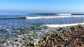 Sunrise on `Las Rotas` beach in Denia stock video footage