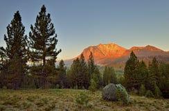 Sunrise on Lassen Peak, Lassen Volcanic National Park Royalty Free Stock Images