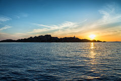 Sunrise in Lavezzi island, Corsica, France Stock Image