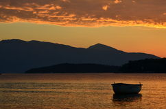 Sunrise on Lefkada shore Royalty Free Stock Photography