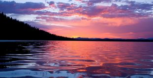 Sunrise on Leigh lake Royalty Free Stock Photo
