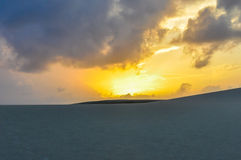 Sunrise in Lencois Maranheses, Brazil Stock Images