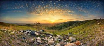 Sunrise at Lendongara Hill, Sumba Island, Indonesia royalty free stock photo