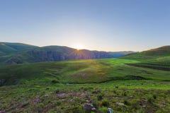 Sunrise in Lesotho near Semonkong Royalty Free Stock Photo