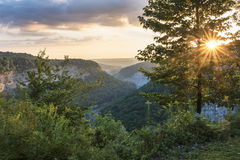 Sunrise At Letchworth State Park Stock Images