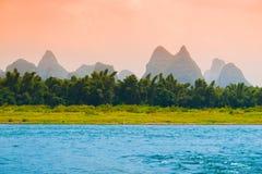 Sunrise at Li River Stock Image