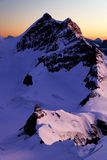 Sunrise light in Berner Oberland Royalty Free Stock Photography