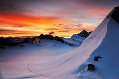 Sunrise light in Berner Oberland Royalty Free Stock Images