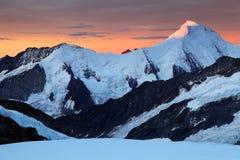 Sunrise light in Berner Oberland Stock Image