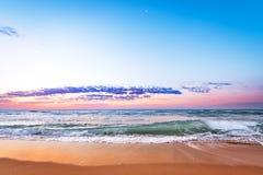 Sunrise light on ocean waves. Sunrise light shining on ocean waves Stock Photography
