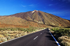 Sunrise light over Teide National Park Stock Image