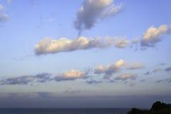 Sunrise Lighthouse on Cliff Stock Photography
