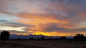 Wonderful sunrise on the volcanoes of the Andean cordillera, Atacama Desert, Chile royalty free stock images