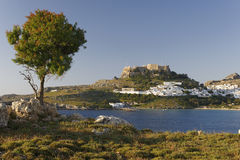 Sunrise on Lindos Royalty Free Stock Images