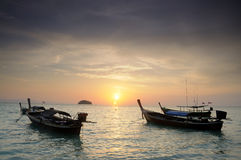 Sunrise at Lipe island. Of beautiful South Sea islands. Another in Thailand and Asia Royalty Free Stock Images